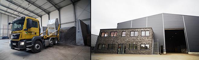 Tamm GmbH - Umweltschutz Schrottlagerhalle